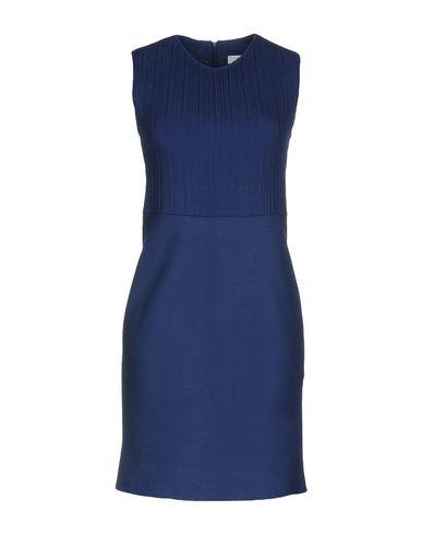 Фото - Женское короткое платье HARRIS WHARF LONDON синего цвета
