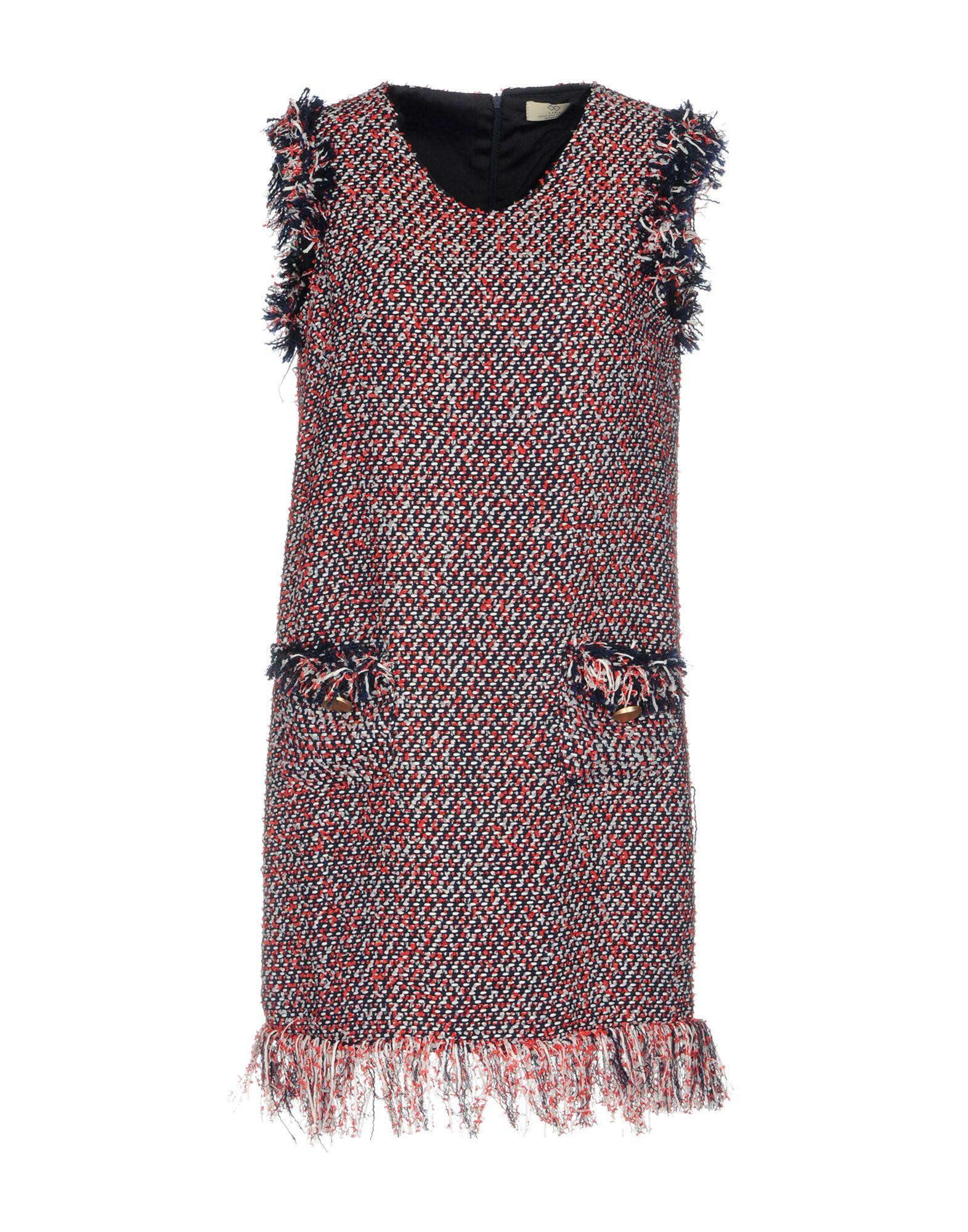 CUBIC Damen Kurzes Kleid Farbe Rot Größe 5