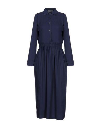 Фото - Женское длинное платье BARENA темно-синего цвета
