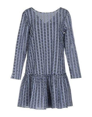 Фото - Женское короткое платье AGLINI синего цвета