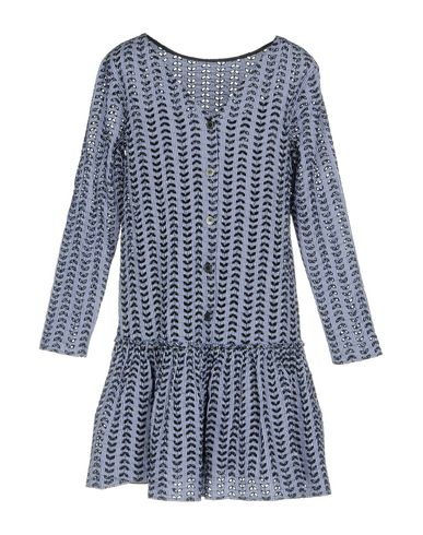 Фото 2 - Женское короткое платье AGLINI синего цвета