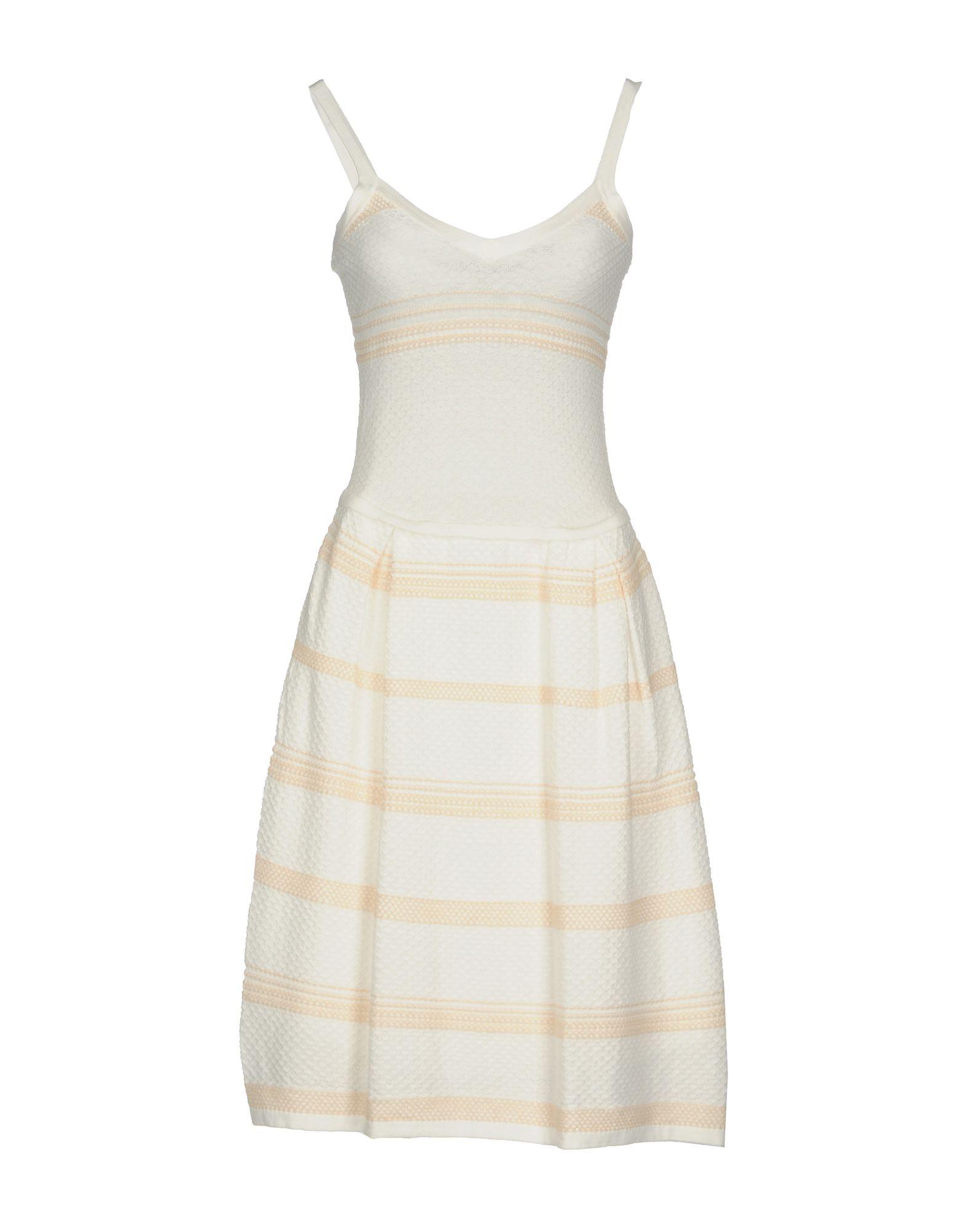 SILVIAN HEACH Damen Knielanges Kleid Farbe Weiß Größe 6