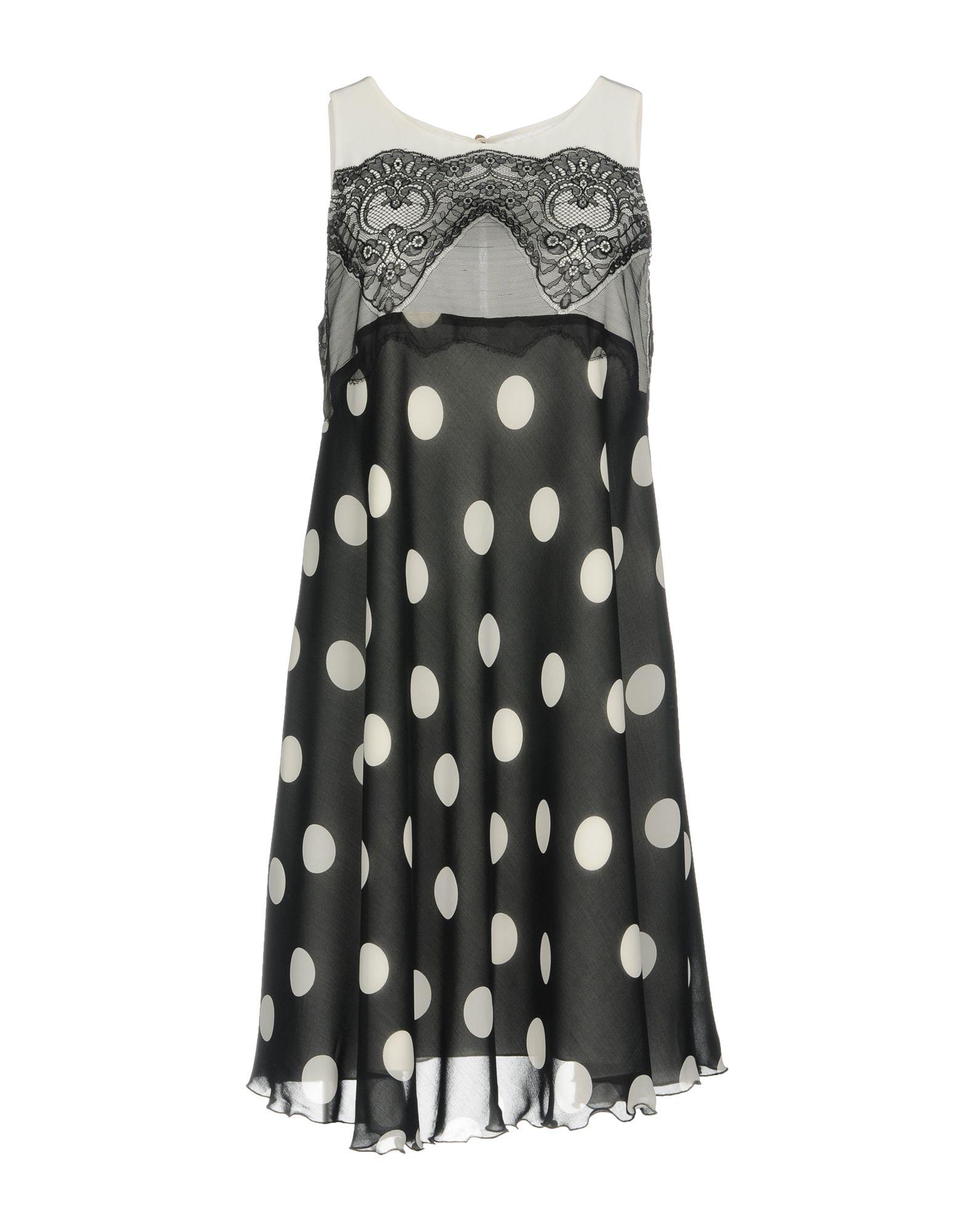 X'S MILANO Короткое платье блуза xs milano блузы в горошек