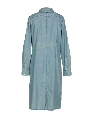 Фото 2 - Женское короткое платье TWINSET синего цвета