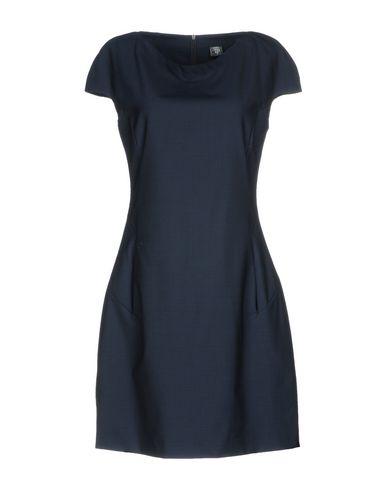 Фото - Женское короткое платье ELEVENTY темно-синего цвета