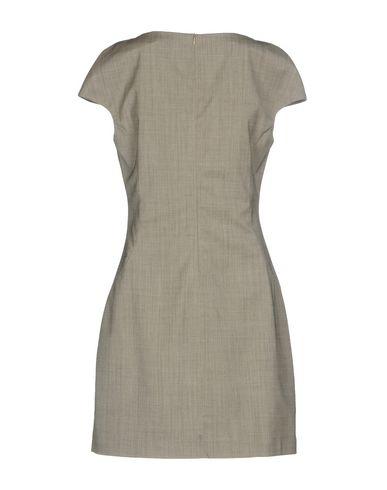 Фото 2 - Женское короткое платье ELEVENTY серого цвета