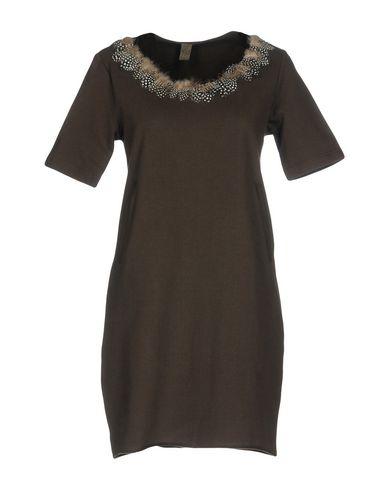 Фото - Женское короткое платье JIJIL темно-коричневого цвета
