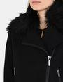 ARMANI EXCHANGE FAUX-FUR COLLAR WOOL MOTO Jacket Woman e
