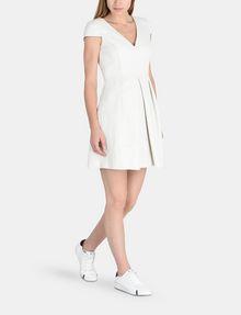 ARMANI EXCHANGE BOX PLEAT FIT-AND-FLARE DRESS Mini dress Woman a