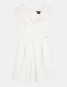 ARMANI EXCHANGE BOX PLEAT FIT-AND-FLARE DRESS Mini dress Woman b