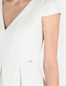 ARMANI EXCHANGE BOX PLEAT FIT-AND-FLARE DRESS Mini dress Woman e