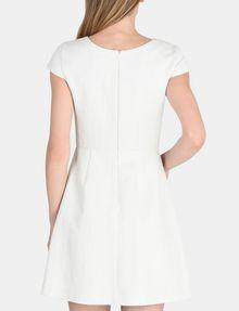 ARMANI EXCHANGE BOX PLEAT FIT-AND-FLARE DRESS Mini dress Woman r