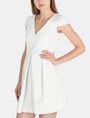 ARMANI EXCHANGE BOX PLEAT FIT-AND-FLARE DRESS Mini dress Woman d