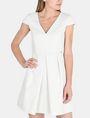 ARMANI EXCHANGE BOX PLEAT FIT-AND-FLARE DRESS Mini dress Woman f