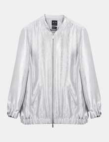 ARMANI EXCHANGE METALLIC LONGLINE BOMBER JACKET Jacket Woman b