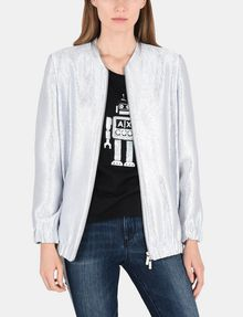 ARMANI EXCHANGE METALLIC LONGLINE BOMBER JACKET Jacket Woman f