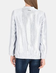 ARMANI EXCHANGE METALLIC LONGLINE BOMBER JACKET Jacket Woman r