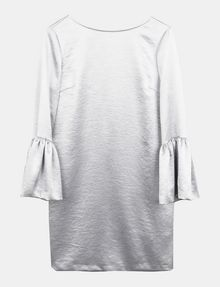 ARMANI EXCHANGE METALLIC BELL-SLEEVE DRESS Mini dress D b