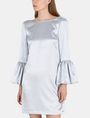 ARMANI EXCHANGE METALLIC BELL-SLEEVE DRESS Mini dress Woman f