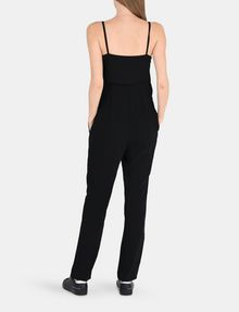 ARMANI EXCHANGE ASYMMETRICAL OVERLAY JUMPSUIT Jumpsuits Woman r