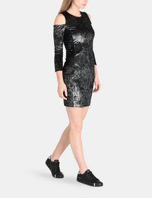 ARMANI EXCHANGE VELVET COLD-SHOULDER DRESS Mini dress Woman a