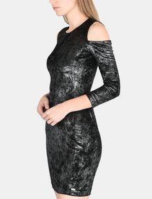 ARMANI EXCHANGE VELVET COLD-SHOULDER DRESS Mini dress Woman d