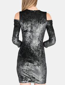 ARMANI EXCHANGE VELVET COLD-SHOULDER DRESS Mini dress Woman r