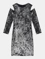 ARMANI EXCHANGE VELVET COLD-SHOULDER DRESS Mini dress Woman b