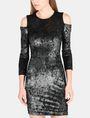 ARMANI EXCHANGE VELVET COLD-SHOULDER DRESS Mini dress Woman f