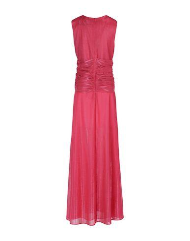 Фото 2 - Женское длинное платье  розового цвета