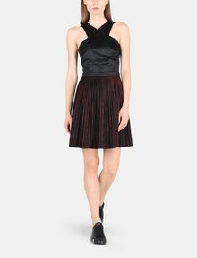 ARMANI EXCHANGE CROSS-FRONT FIT-AND-FLARE DRESS Mini dress Woman a