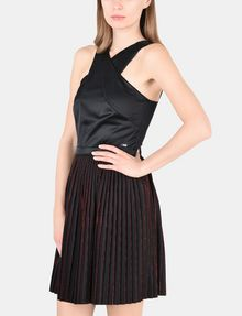 ARMANI EXCHANGE CROSS-FRONT FIT-AND-FLARE DRESS Mini dress Woman d