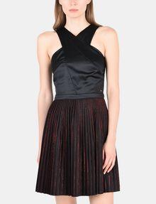 ARMANI EXCHANGE CROSS-FRONT FIT-AND-FLARE DRESS Mini dress Woman f