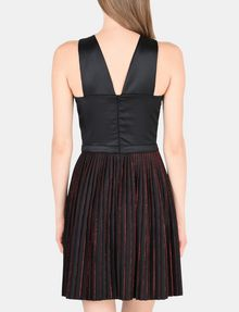 ARMANI EXCHANGE CROSS-FRONT FIT-AND-FLARE DRESS Mini dress Woman r