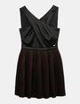 ARMANI EXCHANGE CROSS-FRONT FIT-AND-FLARE DRESS Mini dress Woman b