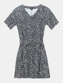 ARMANI EXCHANGE GEO PRINT V-NECK SWING DRESS Mini dress Woman b