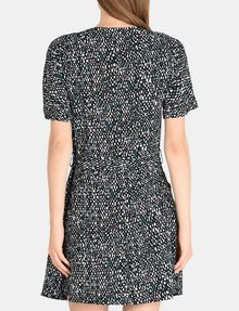 ARMANI EXCHANGE GEO PRINT V-NECK SWING DRESS Mini dress Woman r