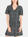 ARMANI EXCHANGE GEO PRINT V-NECK SWING DRESS Mini dress Woman f