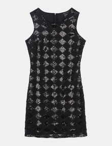 ARMANI EXCHANGE SHEER SEQUIN ARGYLE SHEATH Mini dress D b