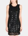 ARMANI EXCHANGE SHEER SEQUIN ARGYLE SHEATH Mini dress D f