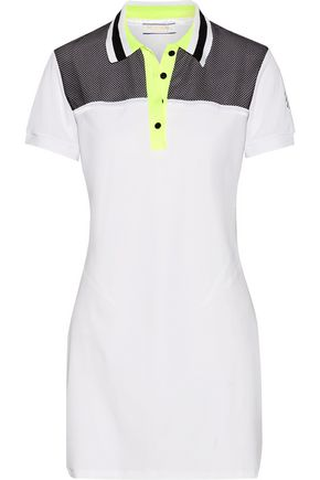 MONREAL LONDON Mesh-paneled stretch-jersey tennis dress