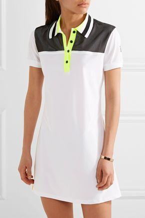 MONREAL LONDON Mesh-paneled stretch-jersey tennis dress