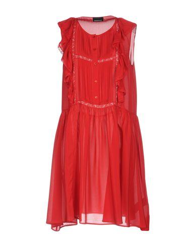 Фото - Женское короткое платье ERMANNO DI ERMANNO SCERVINO кирпично-красного цвета