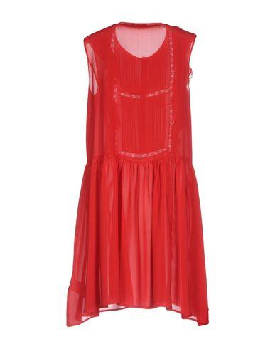 Фото 2 - Женское короткое платье ERMANNO DI ERMANNO SCERVINO кирпично-красного цвета