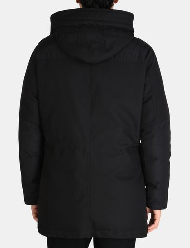 PIECED FUNNELNECK COAT