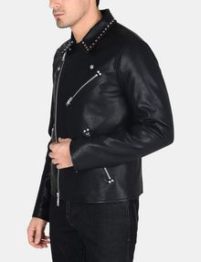 ARMANI EXCHANGE STUDDED FAUX-LEATHER MOTO PU Man d