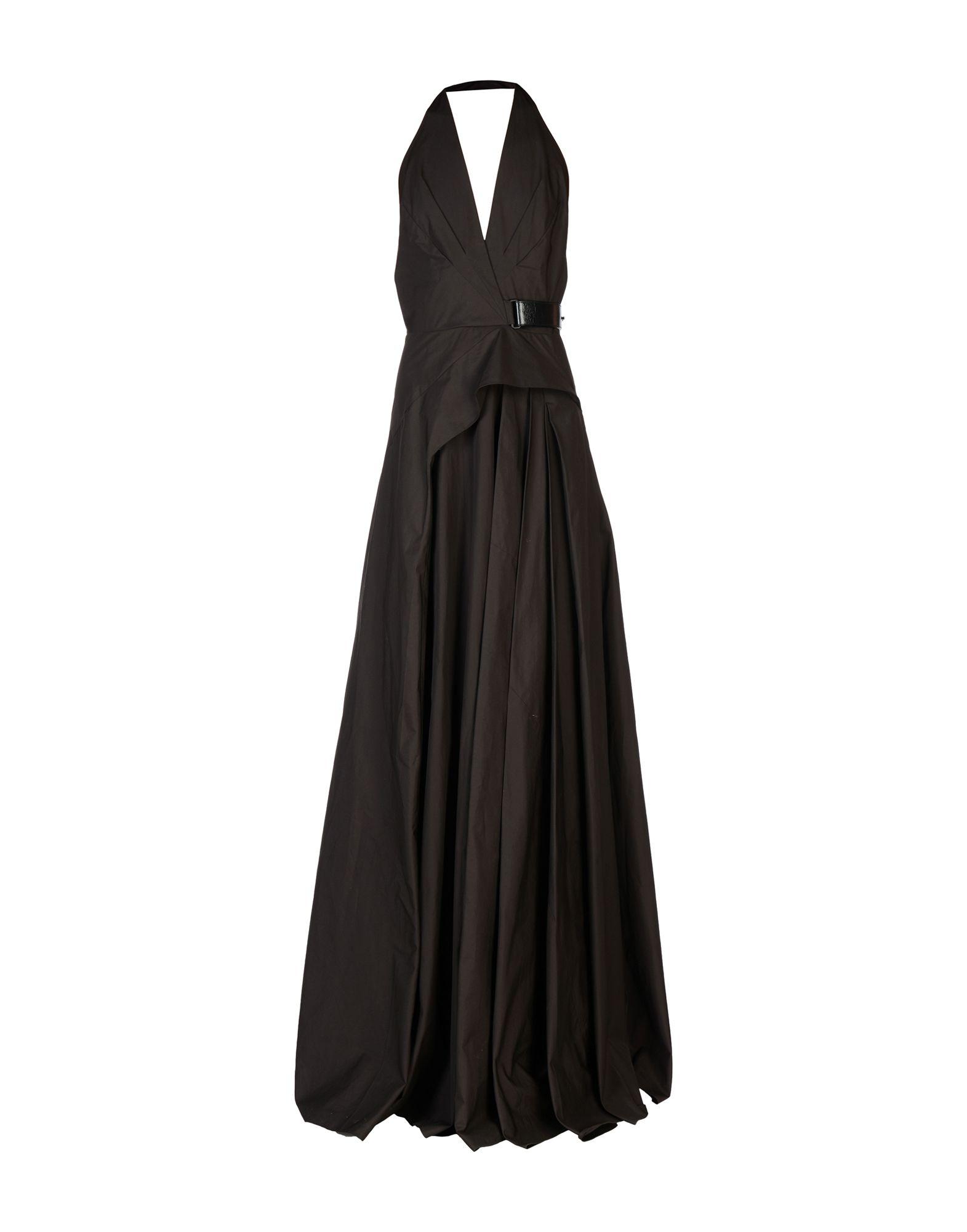 《送料無料》BOTTEGA VENETA レディース ロングワンピース&ドレス ダークブラウン 42 コットン 100%