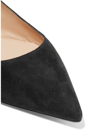 CASADEI Suede point-toe flats