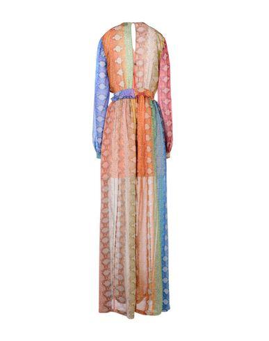 Фото 2 - Женское длинное платье  желтого цвета