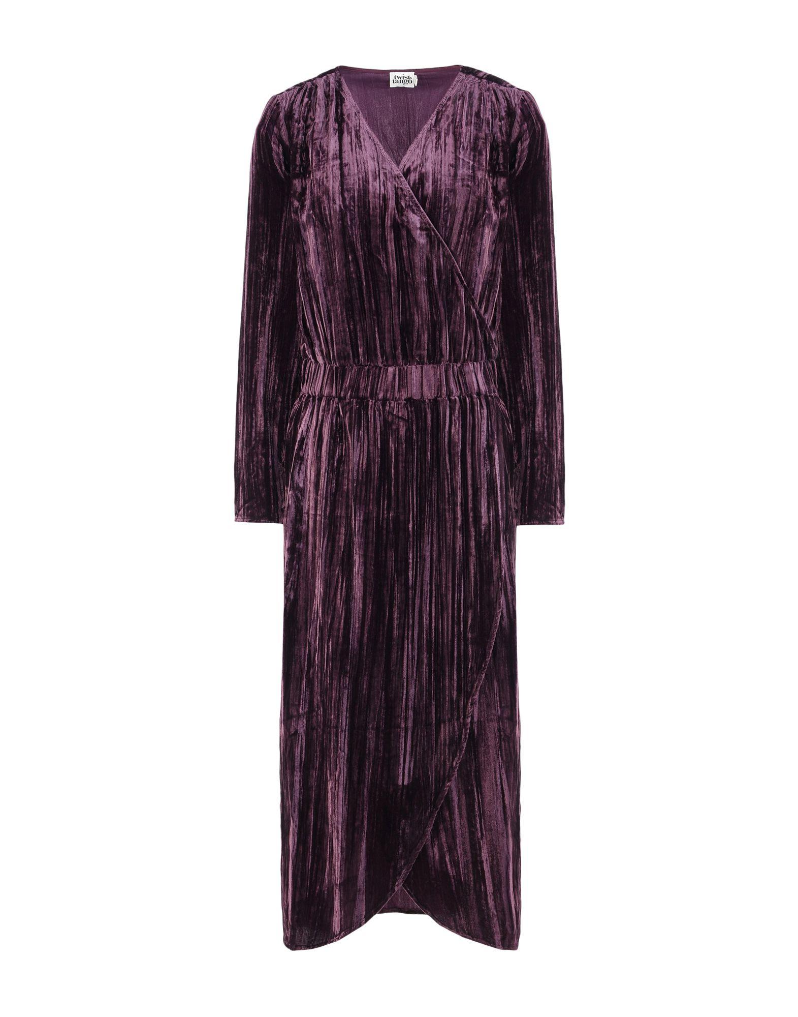 《送料無料》TWIST & TANGO レディース 7分丈ワンピース・ドレス ディープパープル 34 レーヨン 70% / ナイロン 30% Lilja Velvet Dress